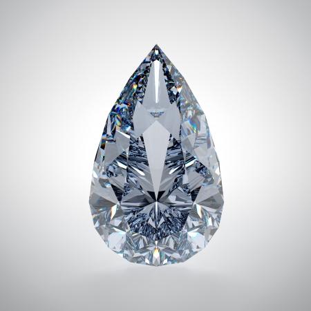 3D illustration of diamond isolated on white background