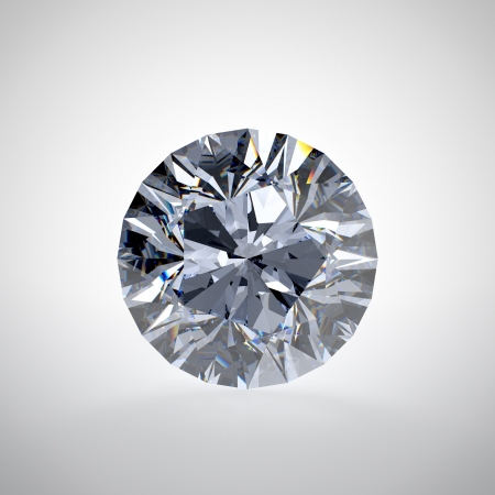 diamond shaped: 3D illustration of diamond isolated on white background