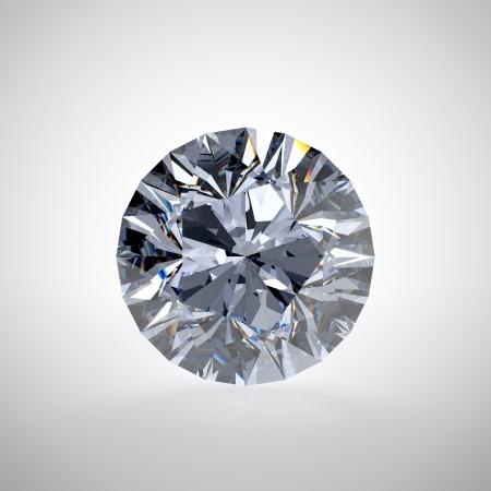 diamond shaped: 3D illustration of diamond isolated on white background