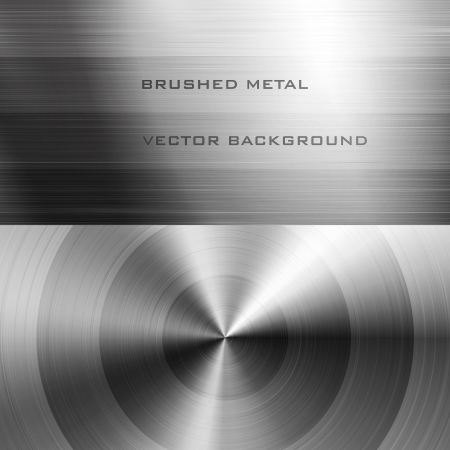Vector illustration of brushed metal background