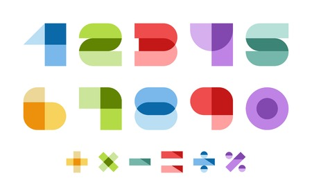 Design elements  Vector illustration of colorful abstract numbers  Vector
