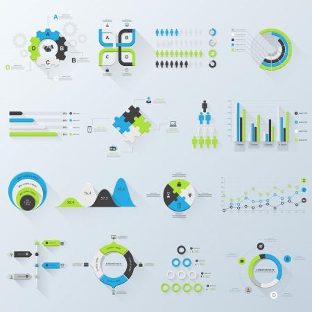 planning diagram: Elementi di design. Illustrazione vettoriale di infografica aziendali. Set di infografica 3D con ombra lunga.