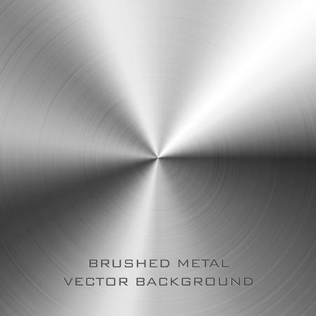 ブラシをかけられた金属の背景のベクトル イラスト