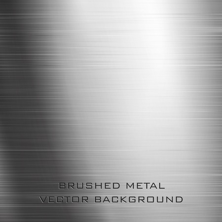 Vector illustration of brushed metal background Vector