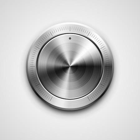 high detailed: High detailed vector illustration of metallic knob.