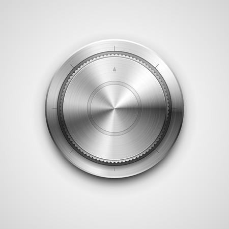 in tune: High detailed vector illustration of metallic knob.