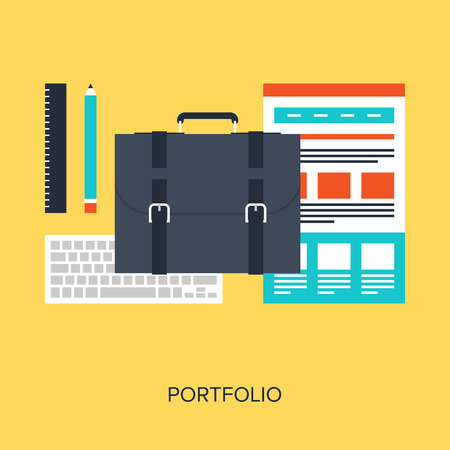 Abstract flat vector illustration of design and development concepts. Elements for mobile and web applications. Vector