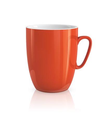 Hoge gedetailleerde vector illustratie van rode kop op een witte achtergrond