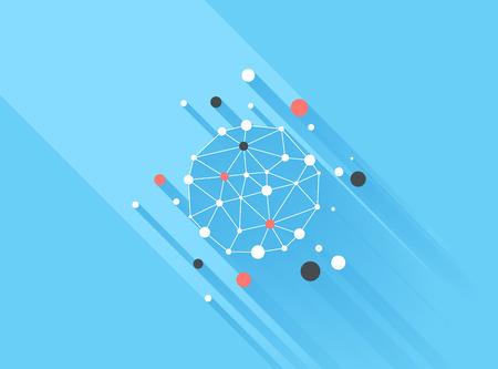 the big: Los elementos de diseño Ilustración vectorial de infografía de negocios. 3D infografía con una larga sombra.