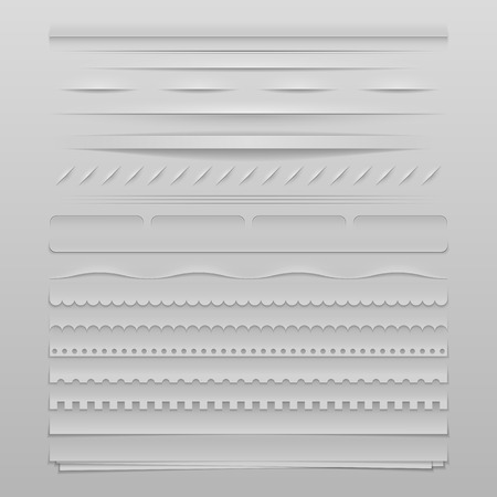 Design elements vector set of high detailed web dividers Vector