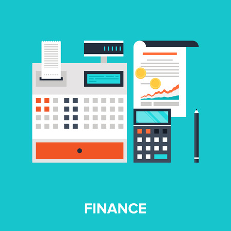 Abstract flat vector illustration of accounting concept. Elements for mobile and web applications. Ilustracja