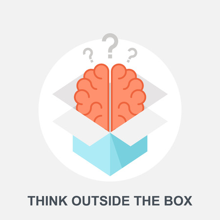 outside box: Think Outside the Box Illustration