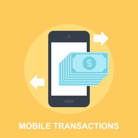 transakcji: Telefony Transakcje Ilustracja