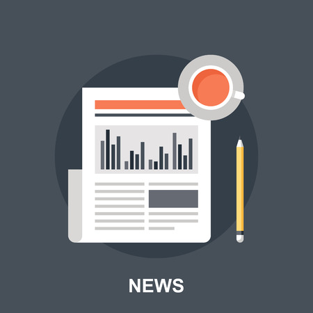 graph paper: Business News Illustration