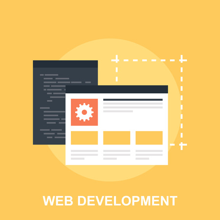 web site design: Web Development Illustration
