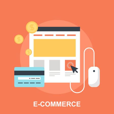 online: E-commerce Illustration
