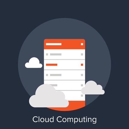 network server: Cloud Computing Illustration
