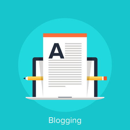 web template: Blogging Illustration