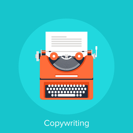 typewriting machine: Copywriting Illustration