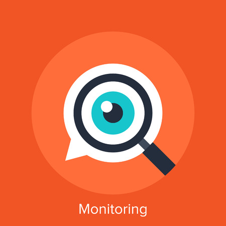Monitoring Stock Illustratie