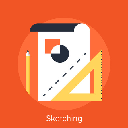 paper art projects: Sketching Illustration