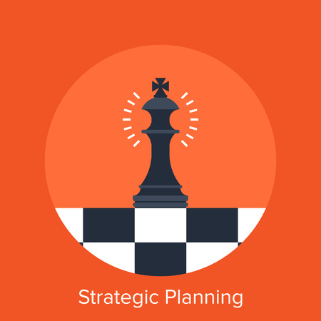 chess king: Strategic Planning Illustration