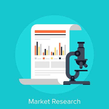 onderzoek: Marktonderzoek Stock Illustratie