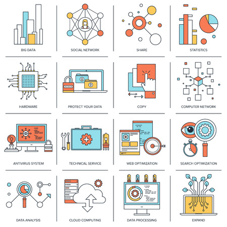 Technology concepts infographic Illustration
