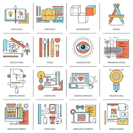 Design und Entwicklung Infografik Illustration
