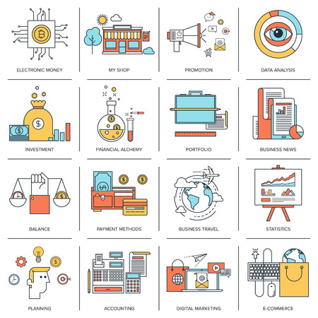 Business concepts infographic