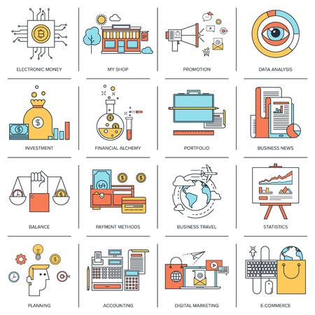Conceptos de negocio infografía Ilustración de vector