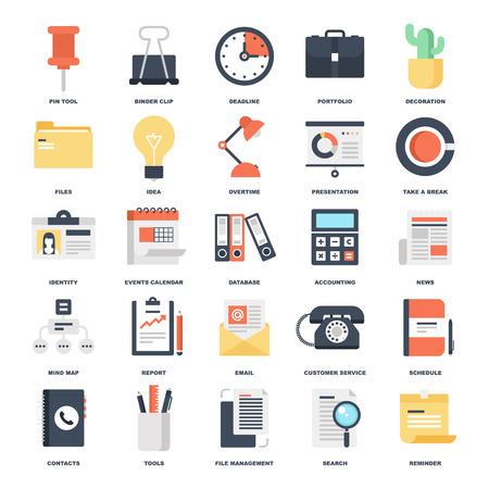 Iconos de oficina Foto de archivo - 37490252