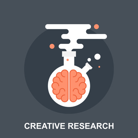 a solution tube: Creative Research Illustration