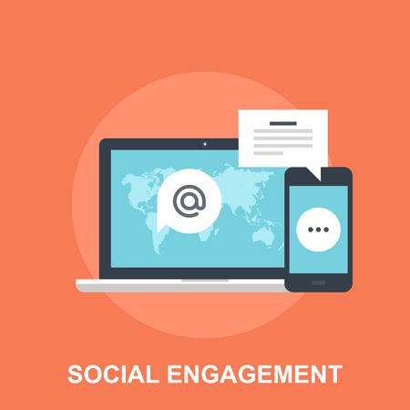 Soziales Engagement Illustration