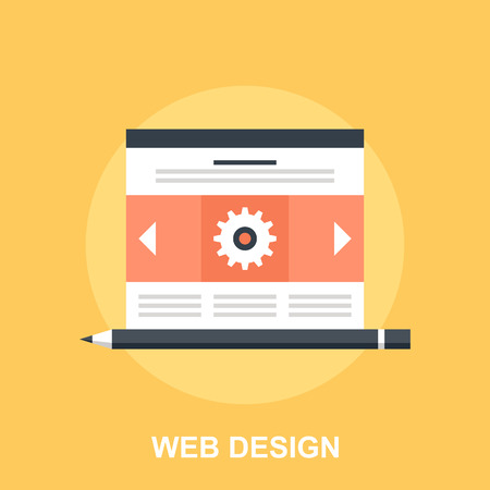 social web sites: Web Design Illustration