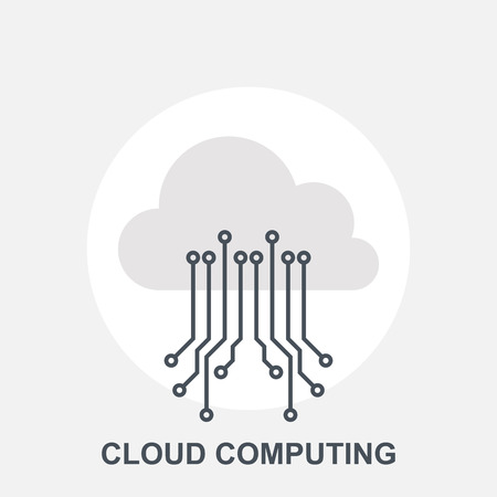cloud computing services: Cloud Computing Illustration