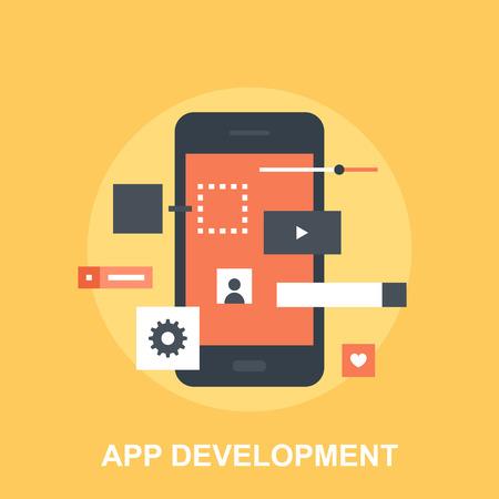 Application Development Ilustração