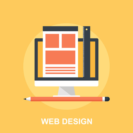 web browser: Web Design Illustration