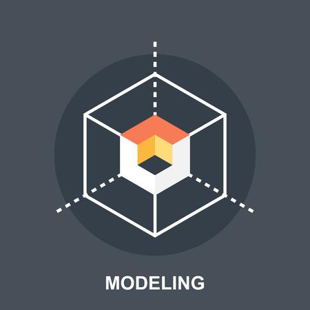 modeling: 3D Modeling Illustration