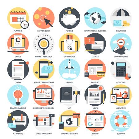 tecnologia informacion: Iconos de negocio.
