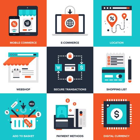 E-commerce elements  イラスト・ベクター素材