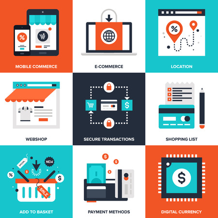 E-commerce elements Ilustrace