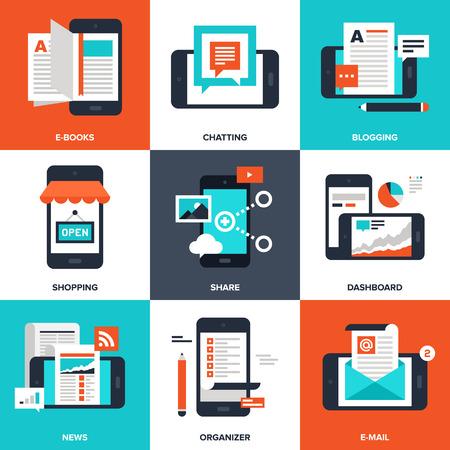 Mobile Applications illustration  イラスト・ベクター素材