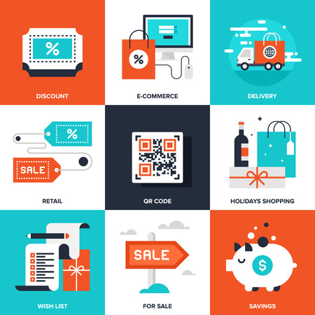 e commerce icon: Shopping and Commerce Illustration