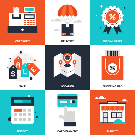 Shopping and Commerce illustration