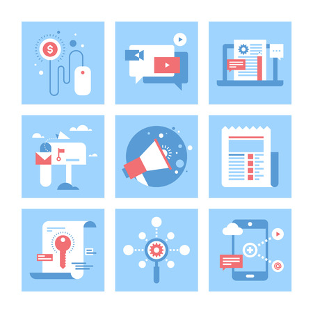 icons: Digital Marketing illustratie