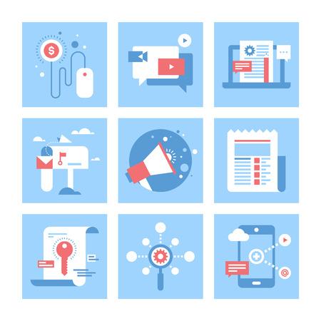 e commerce icon: Marketing Digital ilustraci�n