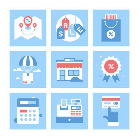 commerce: Shopping and Commerce illustration