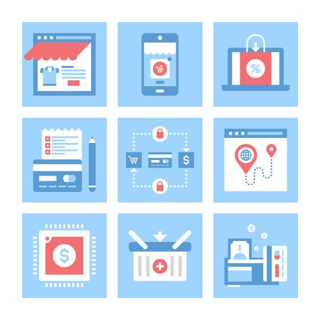 ecommerce: E-commerce illustration Illustration