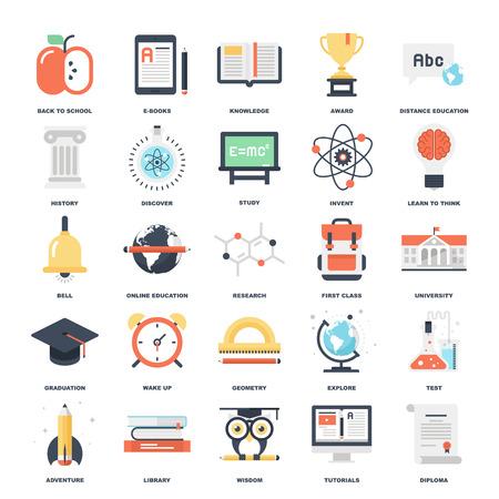 Educación y Conocimiento ilustración Ilustración de vector